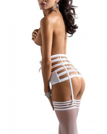Amorre White Suspender Belt