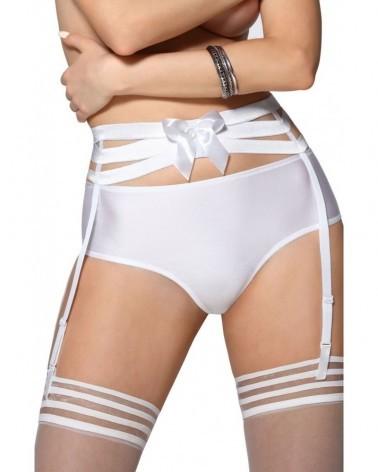 Amorre White Suspender Belt
