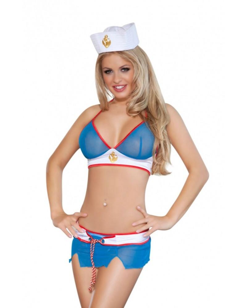 Navy Girl Blue/Red Costume