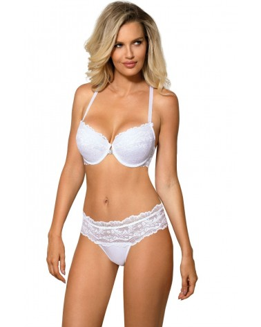 Sefia White Push Up Bra