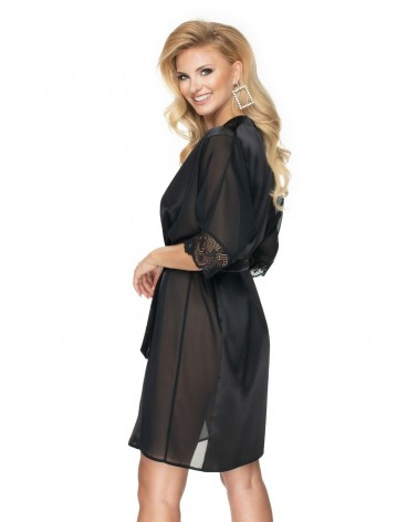 Irall Sharon Dressing Gown Black