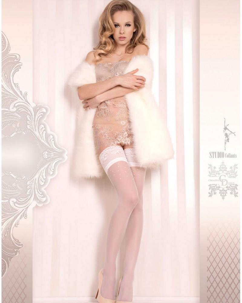 Ballerina 378 Hold Ups Bianco (White)