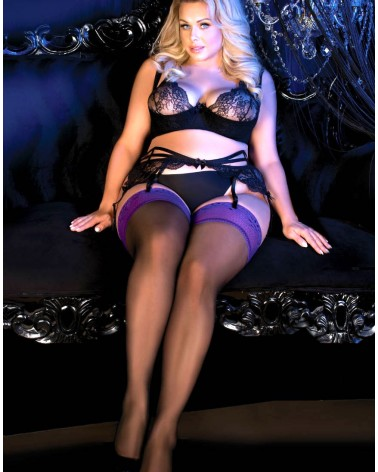Ballerina 490 Hold Ups Black PLUS SIZES