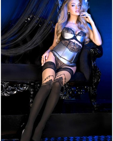 Ballerina 492 Hold Ups Nero (Black)Skin