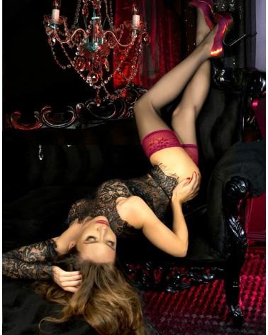 Mailys set, bra and thong, suspender belt