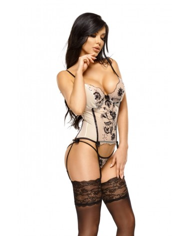 Savannah Nude Black Corset