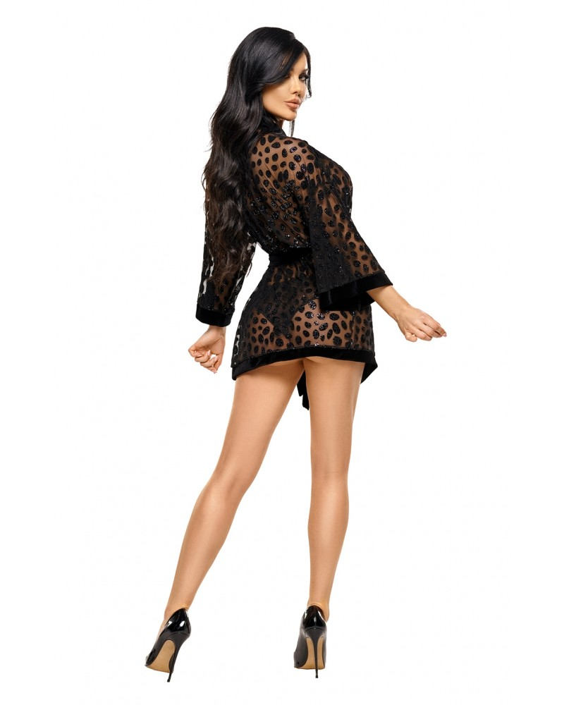 Fabienne  Black Dressing Gown