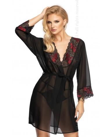 Erotic Oriana Black Dressing Gown