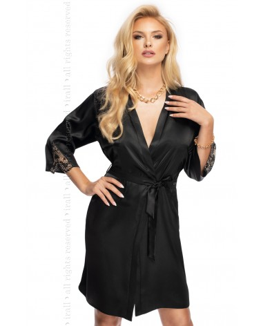 Irall Mallory Dressing Gown Black