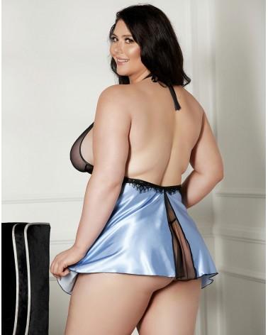 Plus size Shirley of Hollywood X31511 Blue/Black Chemise