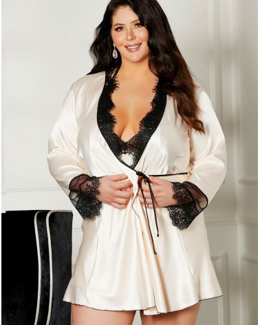 PLUS Size Shirley of Hollywood X31512 Blush/Black