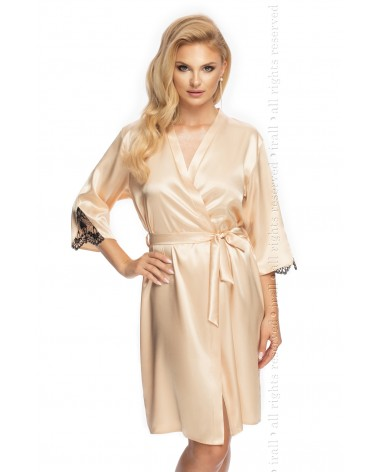 Irall Mallory Dressing Gown Champagne, pearl