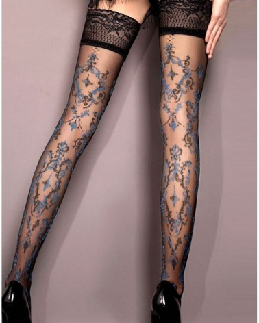 Ballerina 416 Hold Ups Nero (Black)/ Blue