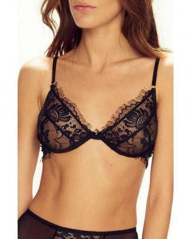 Forever Young Soft Black Bra