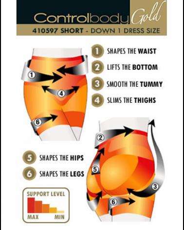 Pants 410597G Shaping Shorts