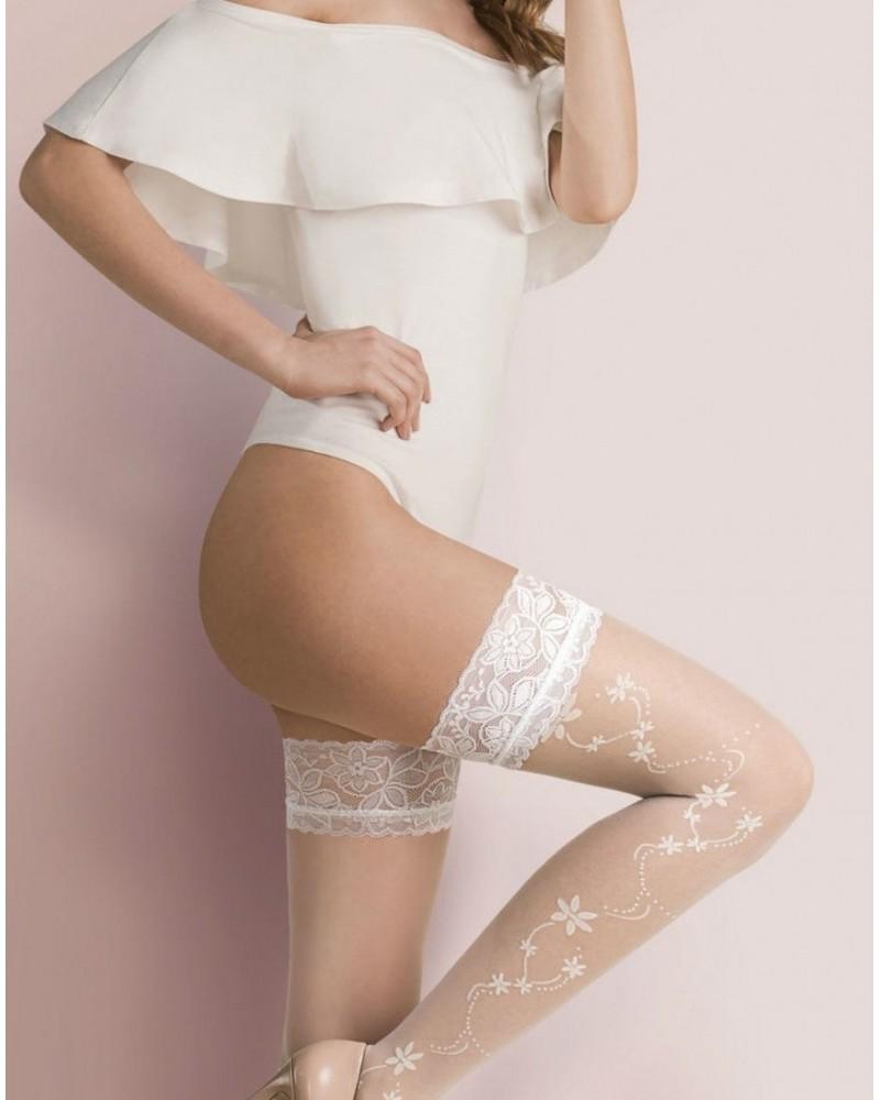 Calze Loretta Bianco Stockings
