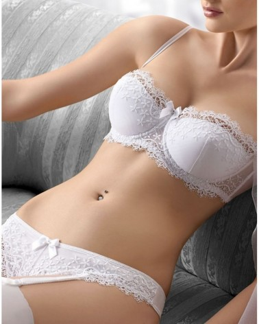 Bliss White Push Up Bra