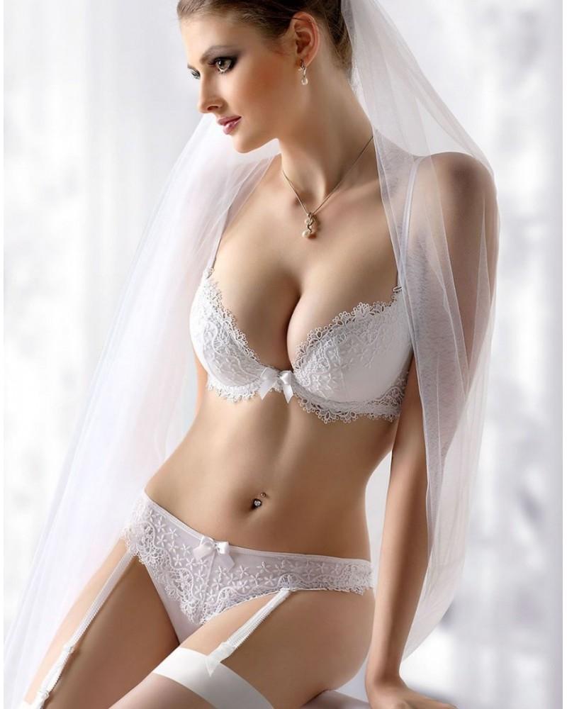 Bliss White Plunge Style Bra