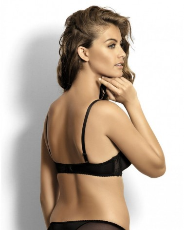 Sabine black spacer bardotte bra