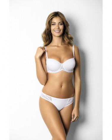 Sabine spacer bardotte white bra