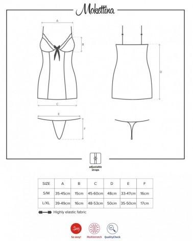 Mokettina chemise & thong