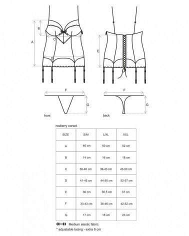 Roseberry corset & thong