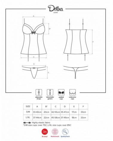 Dottie corset & thong