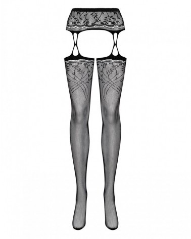 Black garter stocking S206