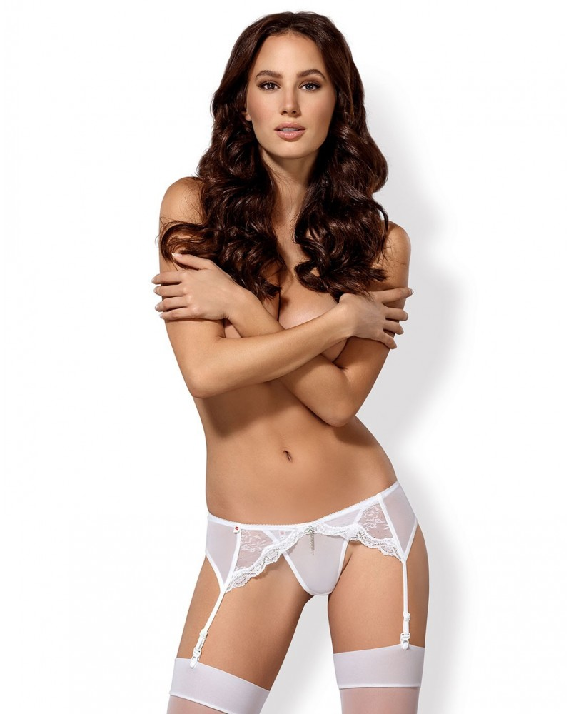 Charms garter belt & thong