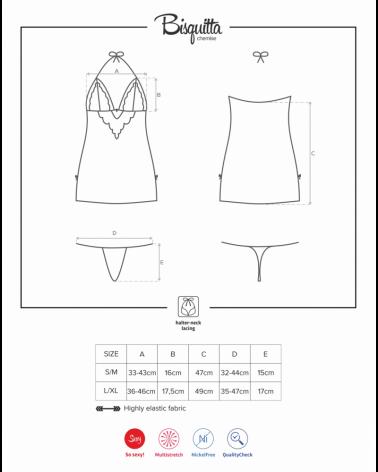 Bisquitta sensual chemise & thong